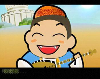 童年的太阳是小巴郎耶 升起在美丽的新疆   彩霞秀的小花帽