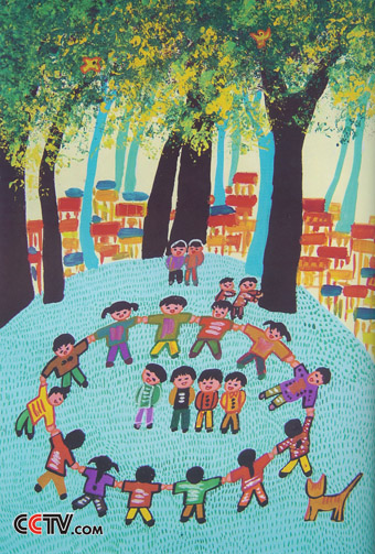 与秋天有关的儿童画图片大全 儿童画秋天的图画